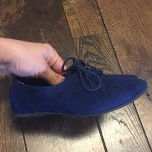 Toddler girls navy suede Soda flats